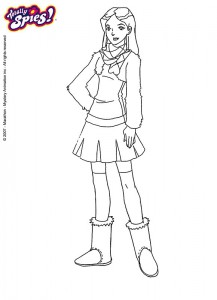 coloring page Totally Spies (3)