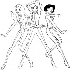 coloring page Totally Spies