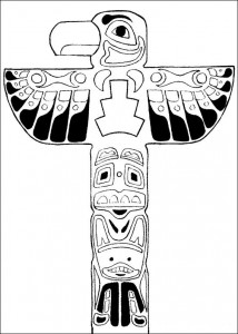 coloring page Totem pole (1)