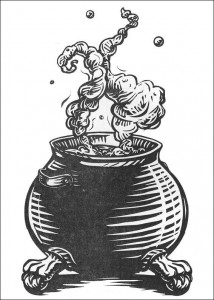 coloring page Magic kettle