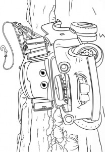coloring page tow mater