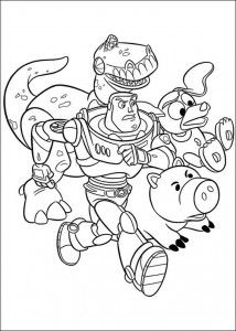 раскраска История игрушек 3 (28)