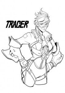 tracer coloring page