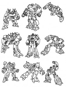 coloring page Transformers (15)