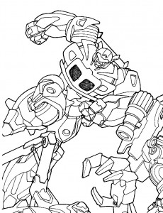 coloring page Transformers (4)