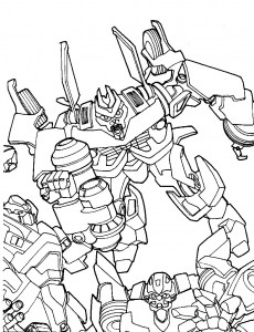 coloring page Transformers (5)