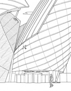 coloring page similar to la fondation louis vuitton