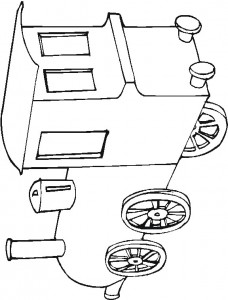 Coloring page Trains (1)