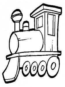 Tåg för målarbok (10)