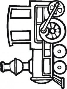Coloring page Trains (2)
