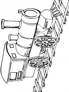 Coloring page Trains (3)