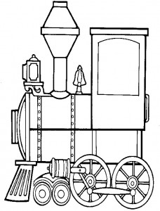 Coloring page Trains (4)