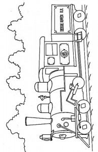 Coloring page Trains (5)