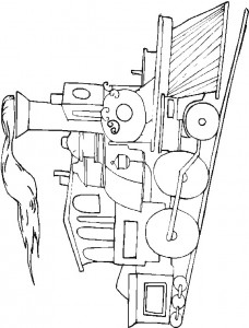 Coloring page Trains (7)