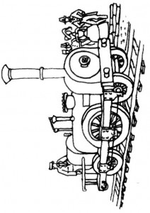 Coloring page Trains (9)