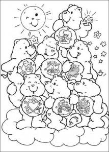 kleurplaat Troetelbeertjes (13)