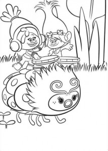 kleurplaat Trolls (1)