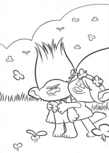 coloring page Trolls (2)