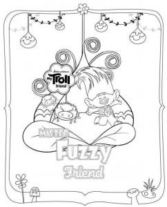 målarbok troll fuzzy