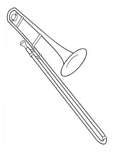 kleurplaat Trombone