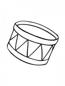 kleurplaat Trommel (1)