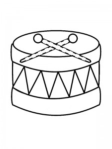 coloring page Drum