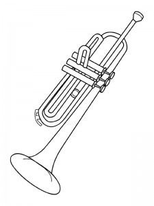 coloring page Trumpet (1)