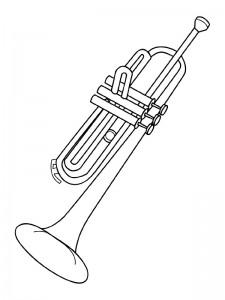 kleurplaat Trompet (1)
