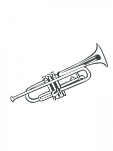 kleurplaat Trompet