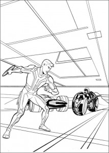 coloring page Tron (13)