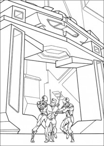 coloring page Tron (4)
