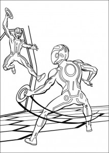 coloring page Tron (6)