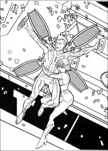 coloring page Tron (8)