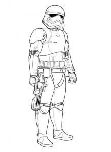 kleurplaat trooper