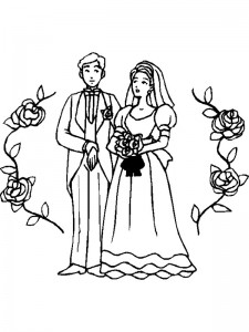 coloring page Getting married (1)