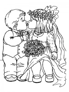 coloring page Getting married (11)