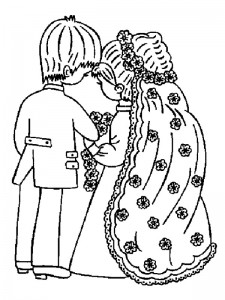 coloring page Getting married (12)