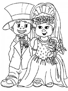 coloring page Getting married (13)