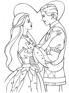 coloring page Getting married (14)
