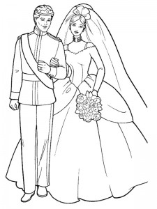 coloring page Getting married (17)