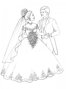 coloring page Getting married (3)