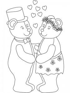 coloring page Getting married (4)