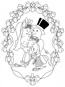 coloring page Getting married (5)