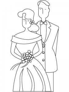 coloring page Getting married (6)