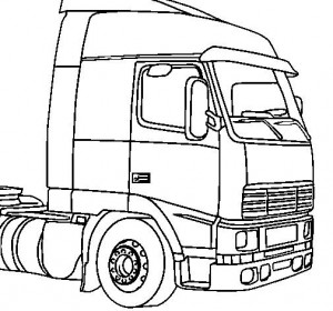 coloring page Truck cabin
