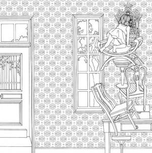 målarbok Tidens trädgård (1)