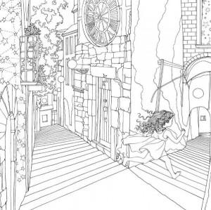 målarbok Tidens trädgård (2)