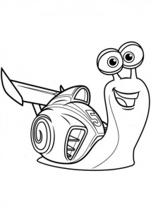 coloring page Turbo (Pixar)