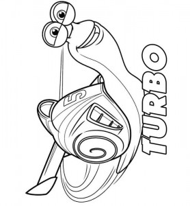 coloring page Turbo