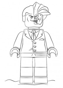 two-face coloring page